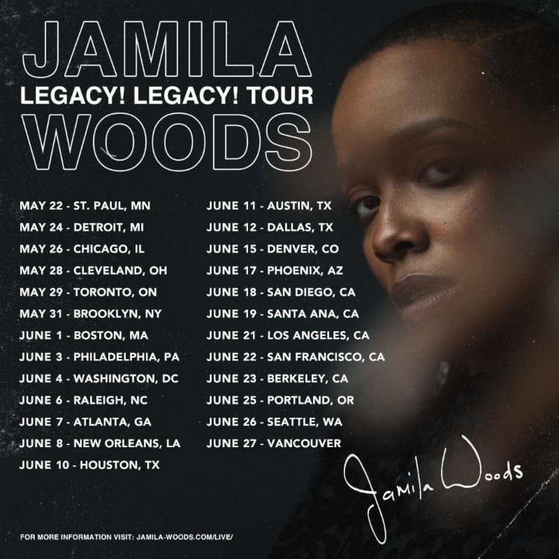 Jamila Woods Legacy Legacy Tour Dates 2019 tickets info