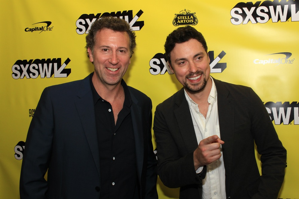 Jonathan Goldstein, John Francis Daley, Stuber, SXSW, Red Carpet Photo, Heather Kaplan