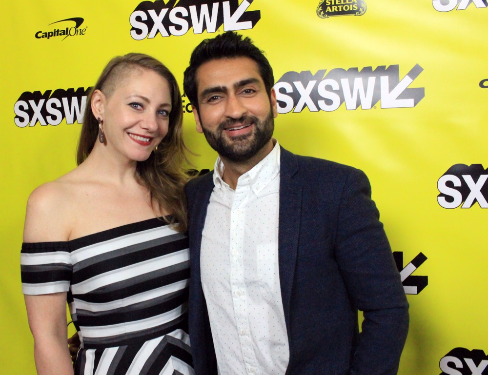 Kumail Nanjiani, Emily V. Gordon, Stuber, SXSW, Red Carpet Photo, Heather Kaplan