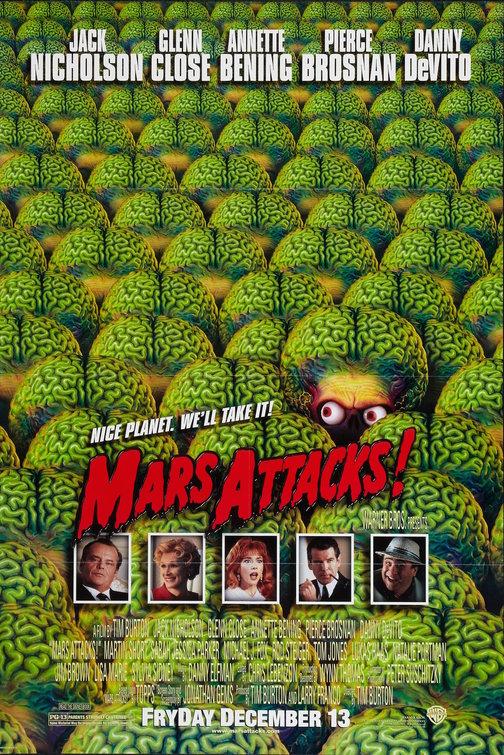 mars attacks teaser poster tim burton