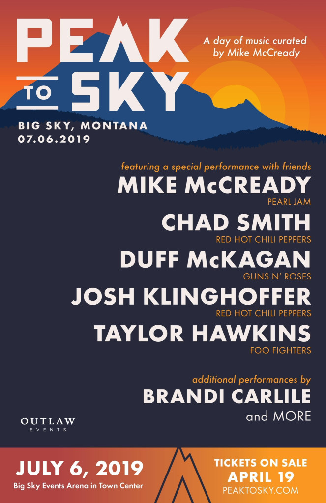 Pearl Jam's Mike McCready announces all-star lineup for inaugural Peak to Sky festival
