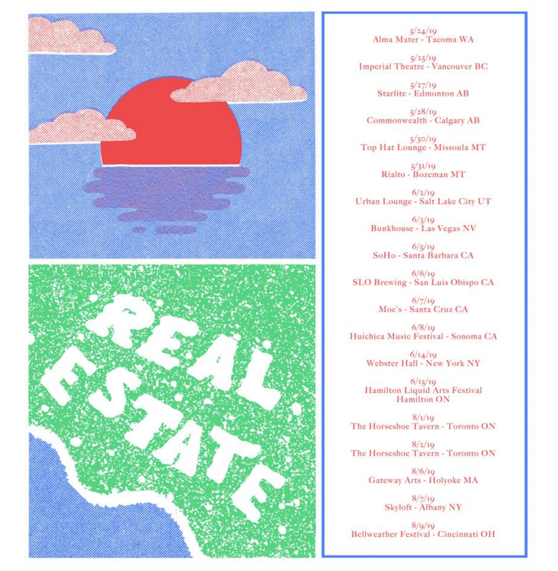 real estate 2019 north american tour dates