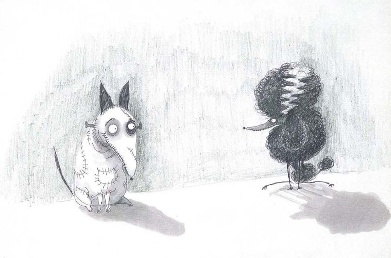 tim burton frankenweenie drawing Ranking: Every Tim Burton Movie from Worst to Best