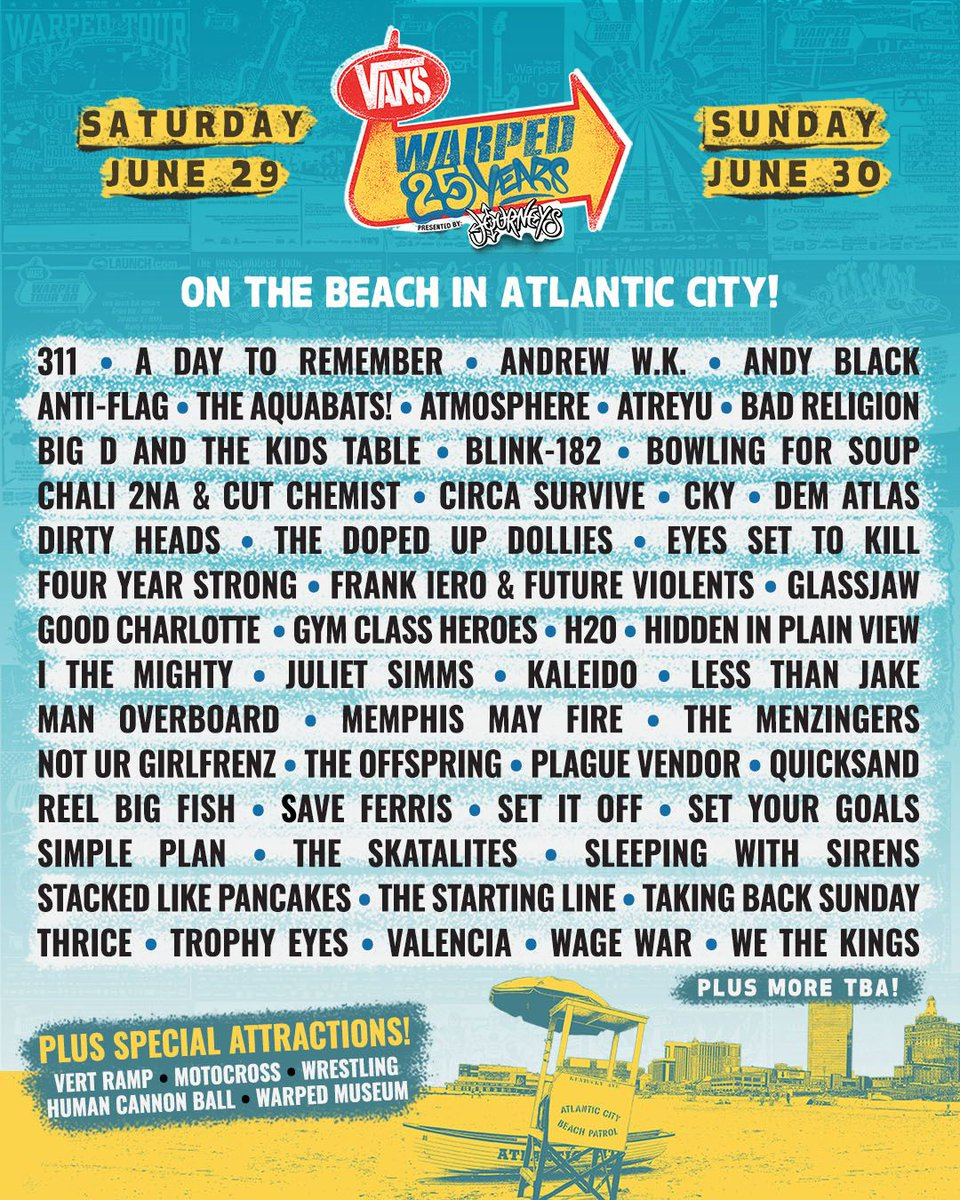 Warped Tour Atlantic City 2019