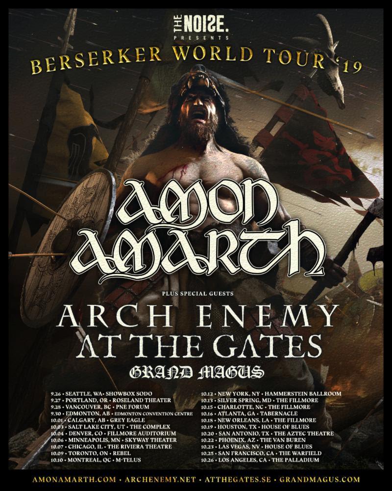Amon Amarth tour poster