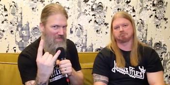 Amon Amarth's Johan Hegg and Olavi Mikkonen