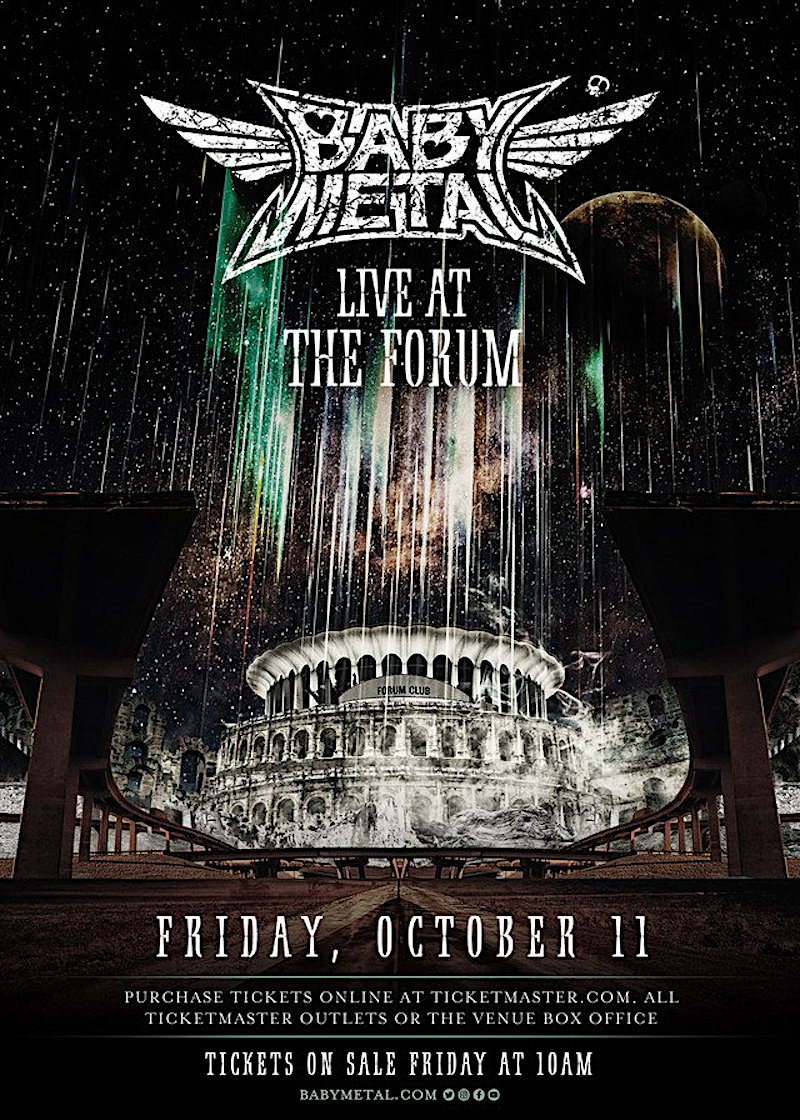 Babymetal at The Forum Poster
