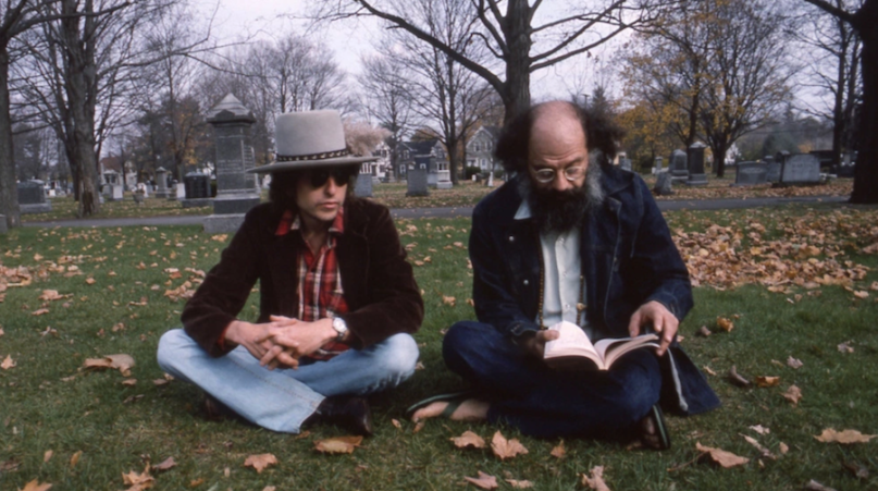 Bob Dylan and Allen Ginsberg from Rolling Thunder Revue A Bob Dylan Story by Martin Scorsese