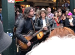 Dave Grohl and Brandi Carlile Times Like These Busking Seattle