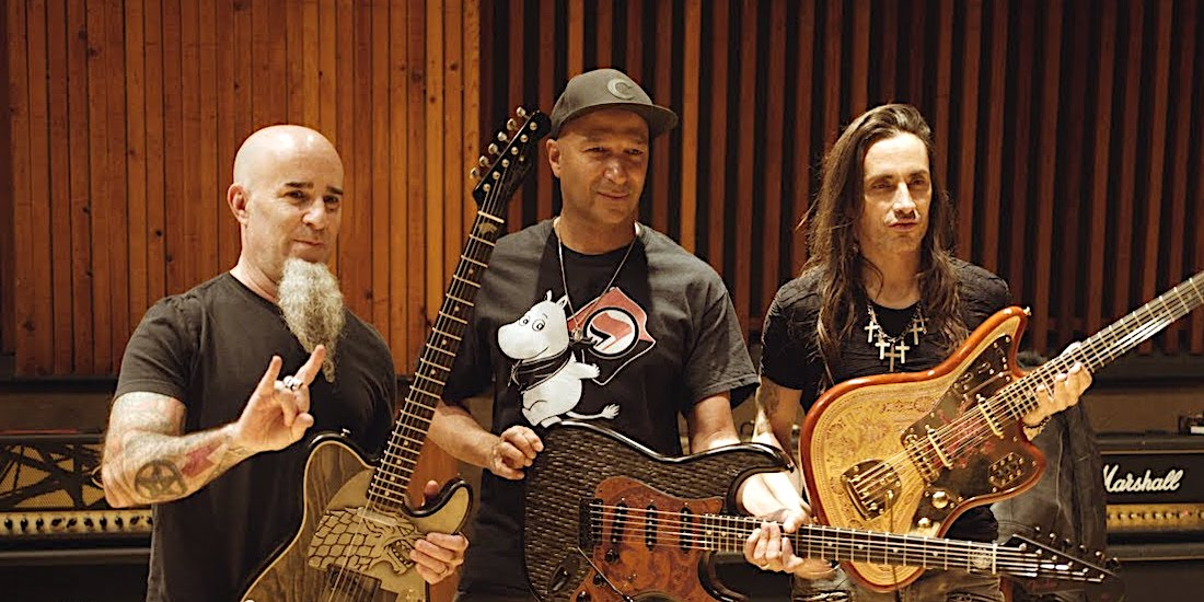 Scott Ian, Tom Morello, and Nuno Bettencourt