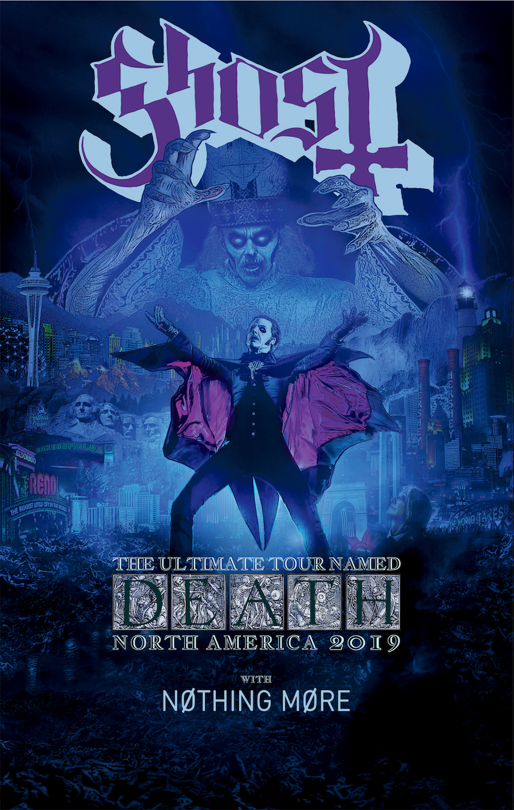 Ghost tour poster fall