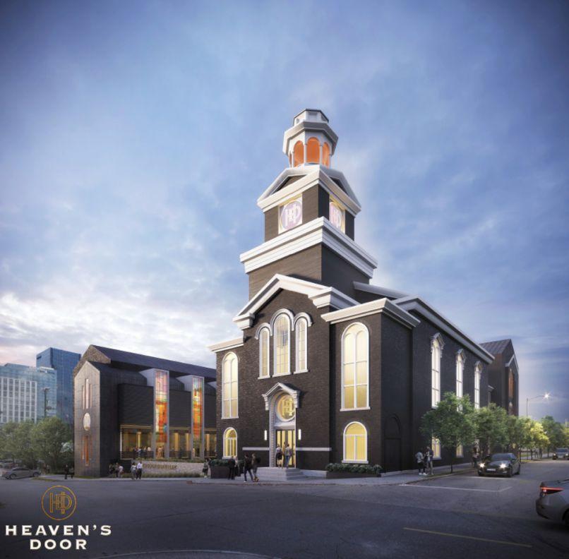 Bob Dylan announces whiskey distillery in Nashville, Heaven's Door Distillery And Center For The Arts artist's rendering via Nashville Post