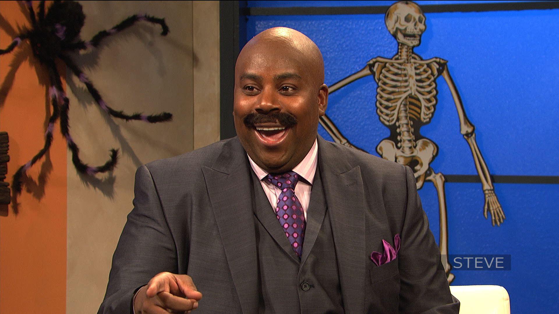 Kenan Thompson as Steve Harvey on NBC's Saturday Night Live