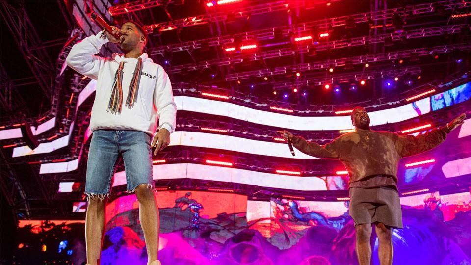 Kid Cudi with Kanye West