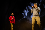 Mike D and Ad-Rock Performing Beastie Boys Story, photo by Lance Bangs brooklyn kings theatre review