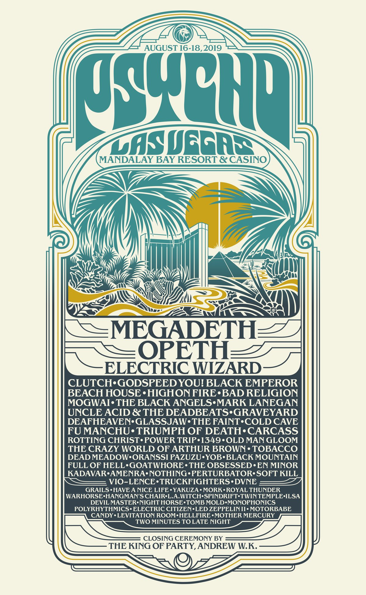 Psycho Las Vegas 2019 Full Lineup poster