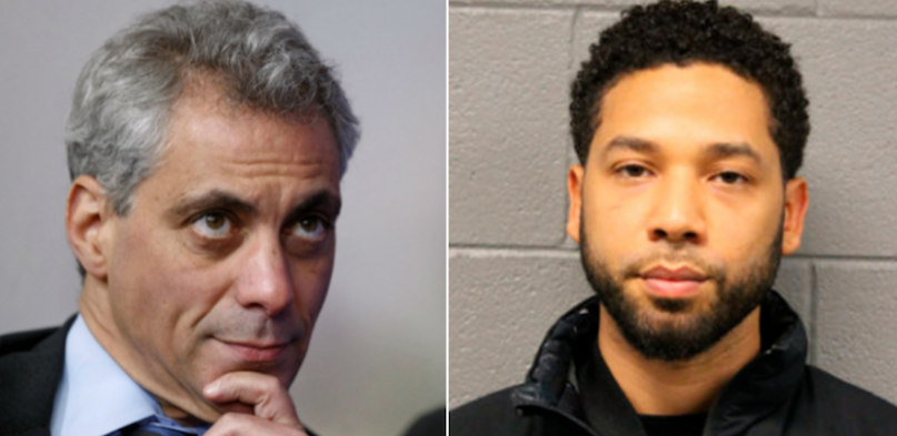 Rahm Emanuel and Jussie Smollett $130000 hate crime investigation lawsuit