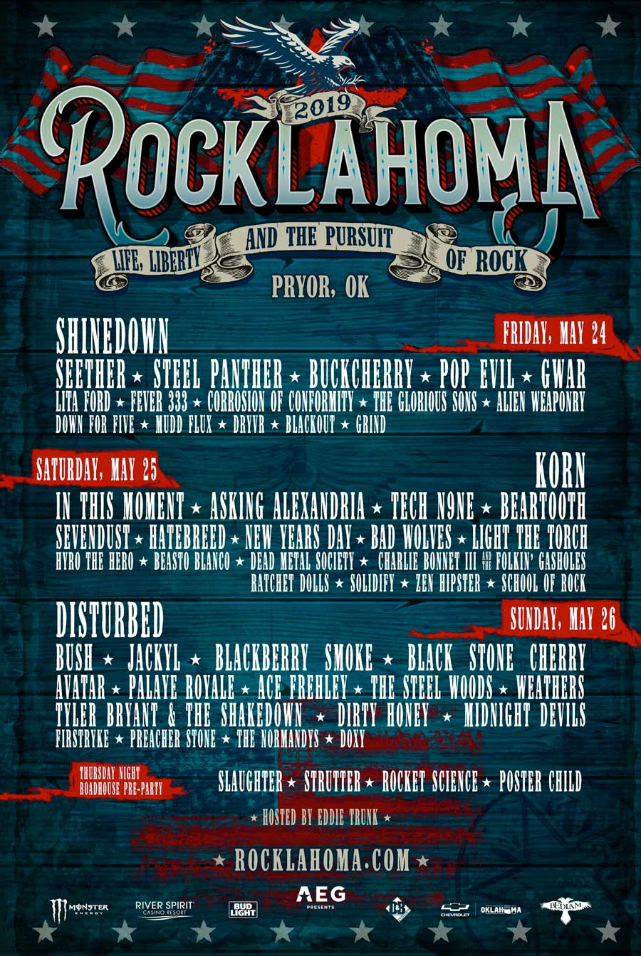 Rocklahoma 2019 Updated Lineup Poster