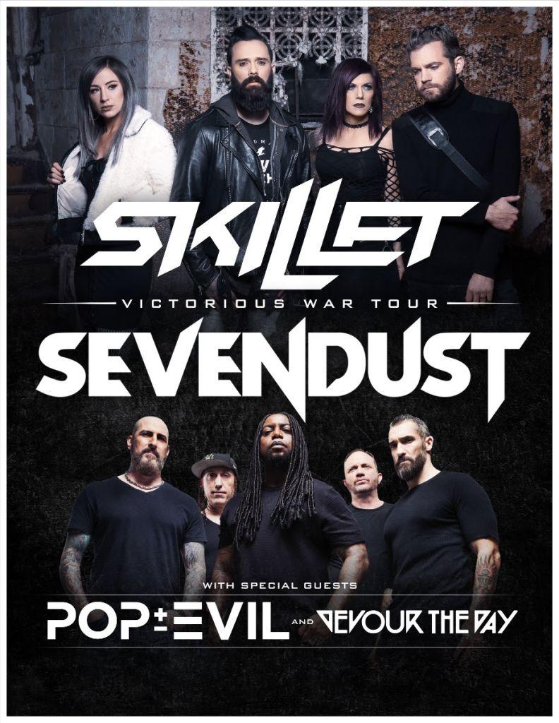 Skillet Sevendust Tour Poster