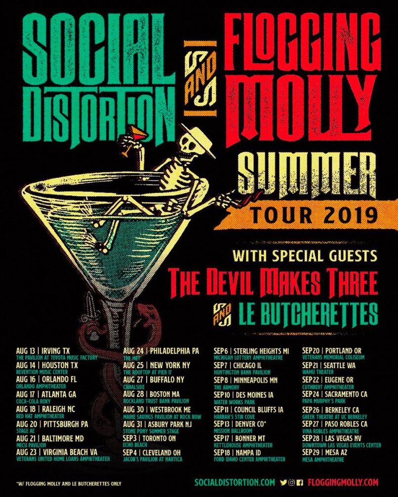 Social Distortion and Flogging Molly Tour Poster