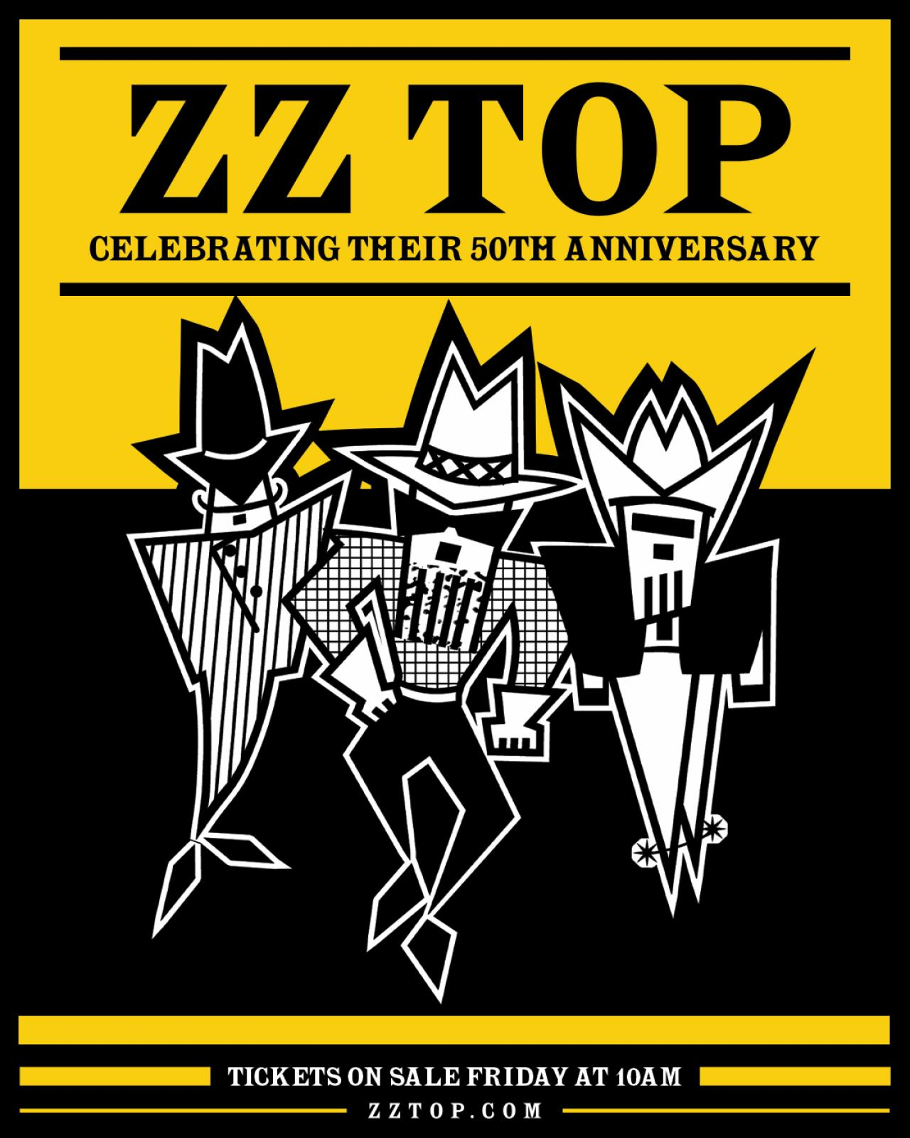 ZZ Top tour poster