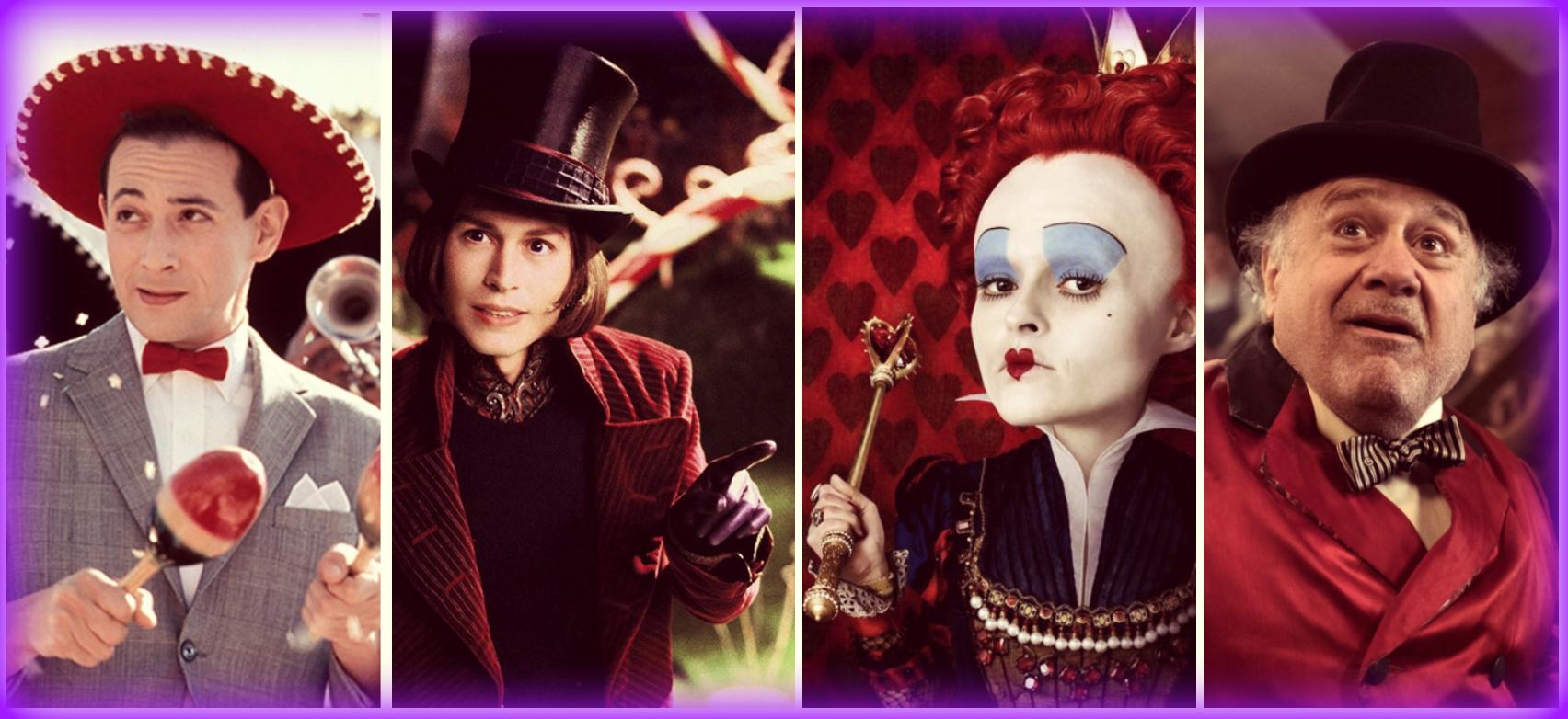Pee-wee's Big Adventure, Charlie and the Chocolate Factory, Alice in Wonderland, Dumbo