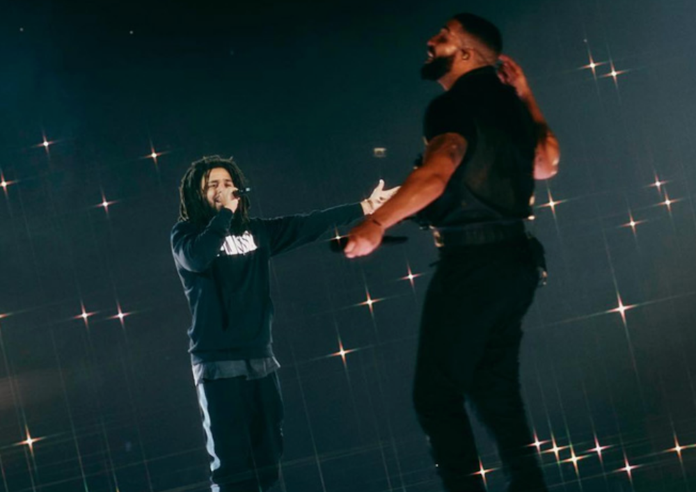 """Drake and J. Cole reunite in London, say they """"been working"""" on new music together"""
