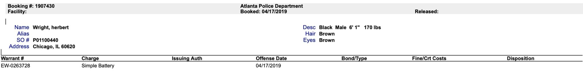 g herbo police report battey