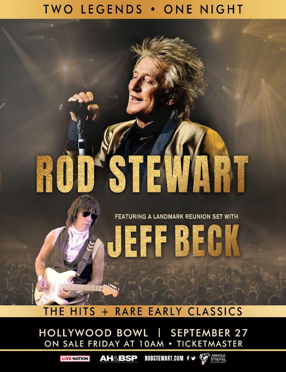 jeff beck group rod stewart reunion hollywood bowl