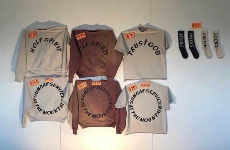 "636ba0b83 Kanye West sells Sunday Service ""church clothes"" at Coachella"