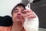 Pete Doherty hospital hedgehog wound infection medical treatment