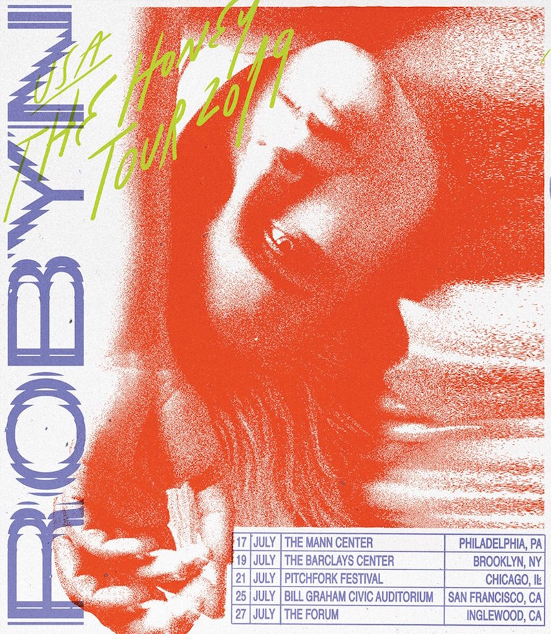 robyn summer us tour dates 2019 Honey concert tickets poster