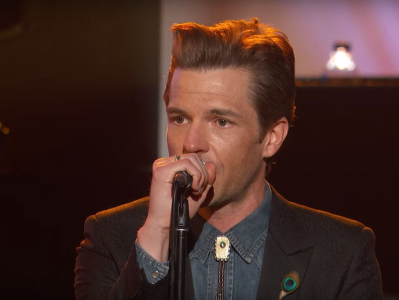 "The Killers cover James Taylor ""Carolina in my Mind"" video performance Jimmy Kimmel"