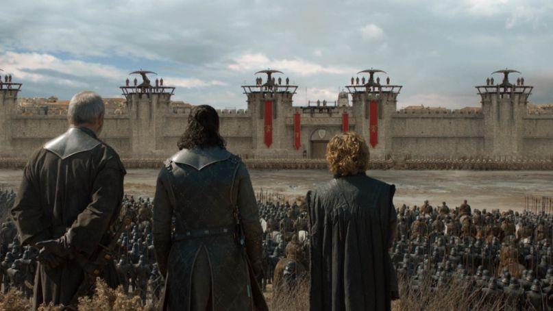 Looking over King's Landing, Game of Thrones