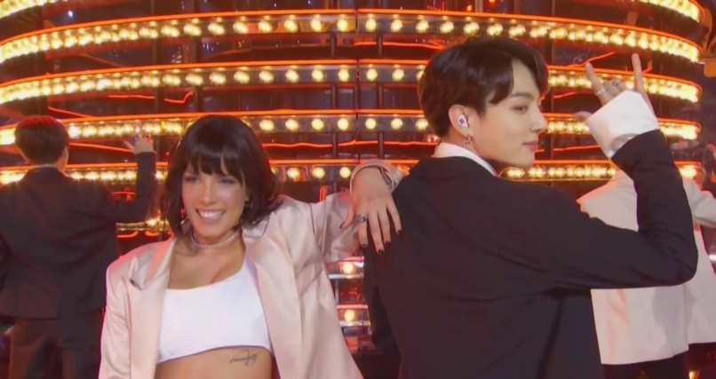 BTS and Halsey perform