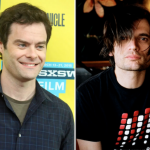 Bill Hader (photo by Heather Kaplan) and Radiohead's Jonny Greenwood radiohead biopic casting