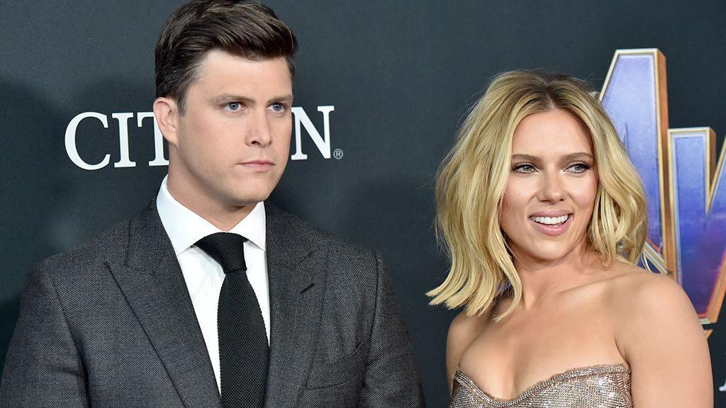 Colin Jost and Scarlett Johansson