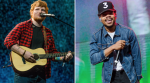 Ed Sheeran (photo by Nathan Dainty) and Chance the Rapper (photo by Ben Kaye) PnB Rock Cross Me Stream New Collaboration Song