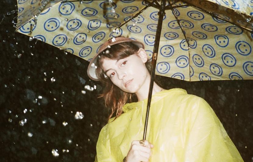 Faye Webster, photo by Eat Humans umbrella rain artist of the month atlanta millionaires club