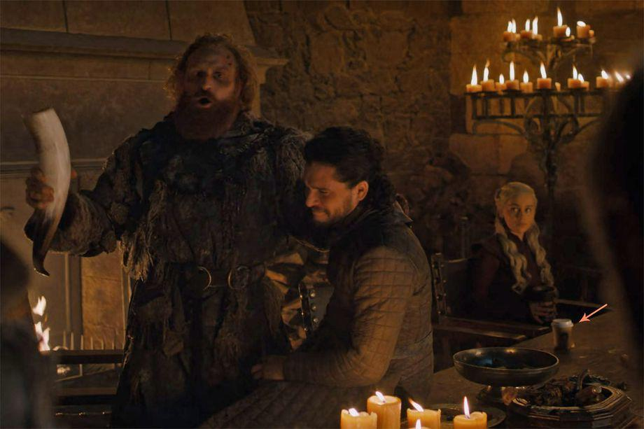 Game of Thrones' coffee gaffe