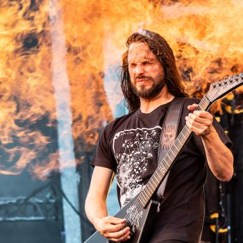 Christian Andreu of Gojira at the Sonic Temple Festival