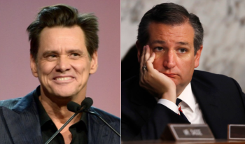 Jim Carrey and Ted Cruz