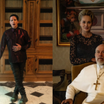 Marilyn Manson, Sharon Stone, and John Malkovich in The New Pope HBO Young Pope Paolo Sorrentino
