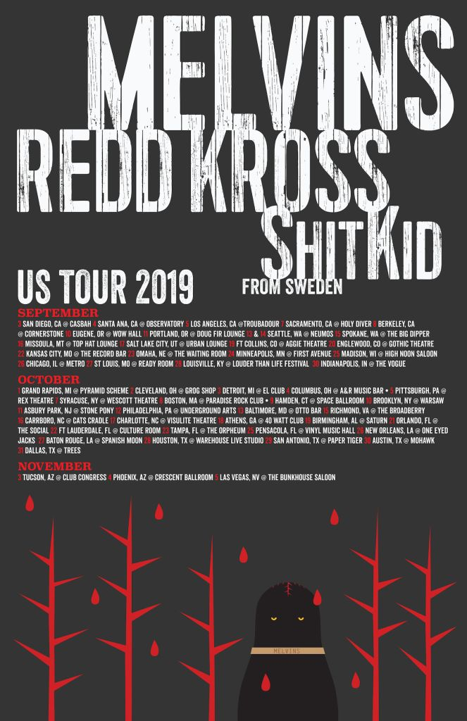 The Melvins Announce Massive Fall 2019 Us Tour With Redd