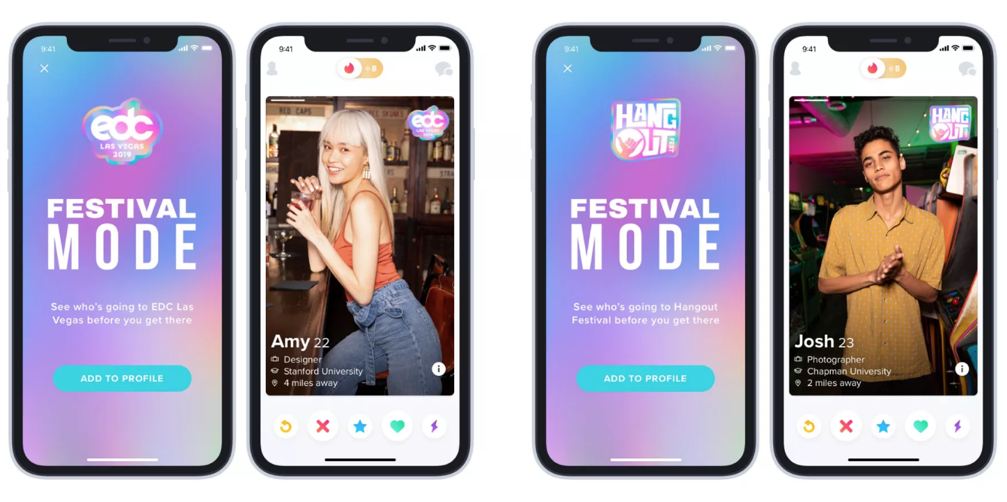 Screen Shot 2019 05 02 at 9.38.37 AM Tinder swipes right into music festivals with new feature
