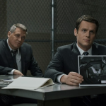 Jonathan Groff and Holt McCallany investigating crime in Mindhunter