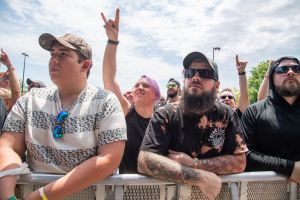 Fans watching Shvpes at 2019 Sonic Temple Festival