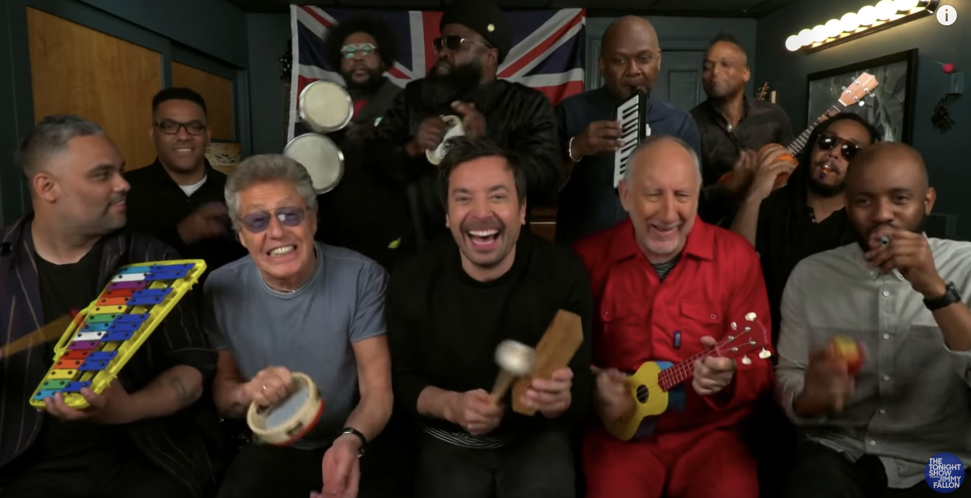 The Who classroom instruments jimmy fallon Robert Daltry Pete Townshend
