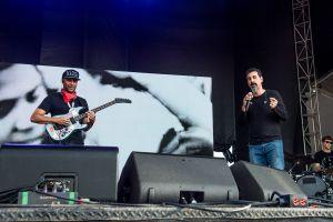 Tom Morello and Serj Tankian at 2019 Sonic Temple Festival