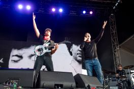 Tom Morello and Serj Tankian at 2019 Sonic Temple Festival